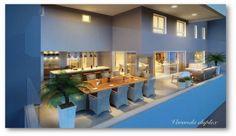 Varanda gourmet de luxo no Wonderful residence Goiânia.    Vendas: (62) 8184-1198