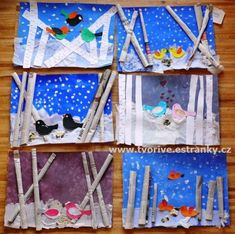 Winter Art Projects, Winter Crafts For Kids, Winter Kids, Summer Crafts, Art For Kids, Kindergarten Art Projects, School Art Projects, Daycare Crafts, Kids Crafts