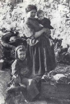 This picture links to the Great Potato Famine in Ireland that occurred in the late 1840s.  The poor farmers in Ireland were dependent upon potatoes to survive.  Interestingly, despite the huge number or starving people on the island, huge numbers of crops (such as corn and grain) were exported for profit rather than used at home.  (it was because the big land owners were British-the potatoes one of the few foods that the poor could grow on their own land- )
