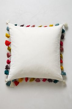 Firenze Velvet Tassel Pillow #anthropologie #pintowin