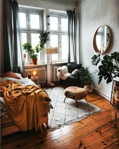 """The Danish word hygge has been translated as """"the atmosphere of cosiness"""", """"the art of building sanctuary"""", """"cocoa by candlelight"""". Hygge is a feeling, and is the raison d'être for Hygge & Lys. Room Ideas Bedroom, Home Bedroom, Room Decor Bedroom, Bedrooms, Urban Bedroom, Modern Bedroom, Aesthetic Room Decor, Home And Deco, Bedroom Styles"""