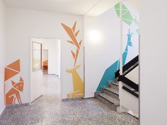 Kita Sinneswandel by Baukind | News | Frameweb --- Larger than Life Animal Murals Guide Kids Through Berlin Kindergarten
