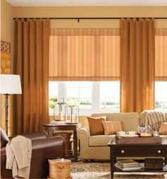 Bali® Tailored Roman Shades - Patterns and Stripes in Epic Crest with Classic Tab draperies in Zeo Shalimar