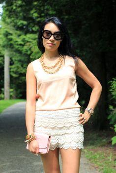 Vintage High Waist Lace Shorts OASAP.com