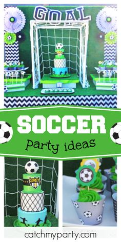 Check out this awesome soccer birthday party! The cake is fantastic!  See more party ideas and share yours at CatchMyParty.com #catchmyparty #partyideas #soccerparty #boybirthdayparty Soccer Birthday Parties, Birthday Goals, Soccer Party, Party Drinks, Party Favors, Party Activities, Holiday Parties, Event Design, Things That Bounce