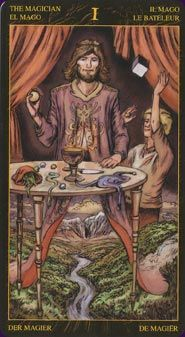2012: Tarot of Ascension has been designed as a tool for spiritual growth and evolution. It has images set in an imaginary medieval setting, with concealed new age symbols and secrets. The minors have been altered to better reflect the seeker's upward path, with some traditionally negative cards becoming more positive.  Cool concept, artwork doesn't speak to me.