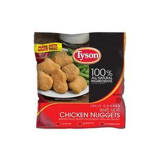 Tyson Chicken Nuggets 5 lbs. ❤ liked on Polyvore featuring food, comida, food & drink and mercado