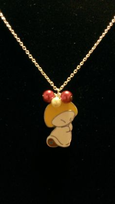 Fantasia Nutcracker Suite Hop Low Mushroom Upcycled Disney PINdant and Pearls Necklace Disney Trading Pin Jewelry @emouise