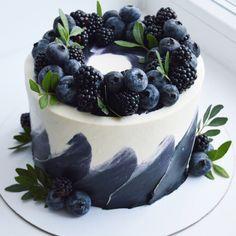 Pretty Birthday Cakes, Pretty Cakes, Cute Cakes, Beautiful Cakes, Amazing Cakes, Gateau Iga, Food Cakes, Cupcake Cakes, Cake Recipes