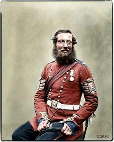 Colour Sergeant Absolam Durrant, 1st. Battalion, Coldstream Guards in Aldershot, Hampshire - July 1856