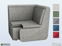This chair is part of the Ashmore Living. Made by Mutske@TSR.  Found in TSR Category 'Sims 4 Living Chairs'
