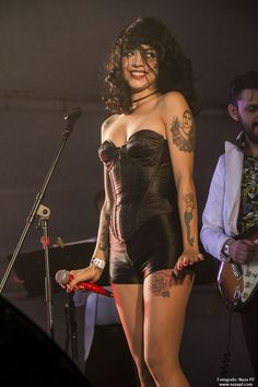Mon Laferte, Chilean singer-songwriter and actress Chica Heavy Metal, Heavy Metal Girl, Women Of Rock, Rocker Girl, Grunge Goth, Guitar Girl, Female Singers, Celebs, Celebrities