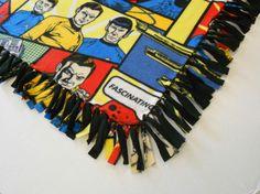 Star Trek Fleece Throw by PolkaDotKreations on Etsy, $52.00