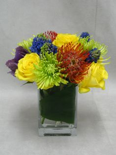 """This arrangement is called, """"Cheerfully Yours"""" which makes it perfect for #flower delivery for NYC hospitals!"""