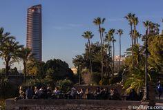 Disfrutando en una terraza a media tarde, Sevilla. Enjoying a terrace, afternoon time, Seville.