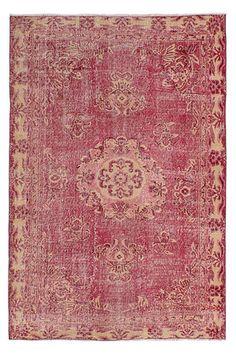 """ecarpetgallery 5'3"""" x 9'6"""" Melis Vintage Rug in Dark Red & Navy"""