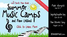 Music Camp in Rexburg! Piano Teaching, Teaching Kids, Piano Classes, Camp Songs, Good Music, Music Music, Music Games, Piano Lessons, Music Education