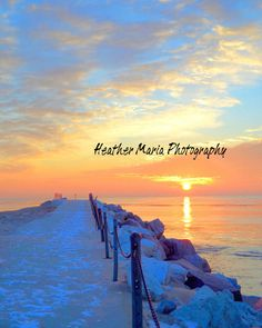 Winter Sunrise I Can See Clearly by HeatherMariaPhotos Great Lakes Michigan, Lake Michigan, Wisconsin, Pray For World Peace, Spiritual People, Grant Park, American Spirit, Fine Art Photo, New Perspective