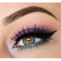 purple and grey #eye #eyes #makeup #eyeshadow #smokey #dramatic #dark