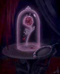 "Disney Beauty and the Beast Enchanted Rose. ""Once upon a time... by Metalblackfae.deviantart.com on @deviantART"
