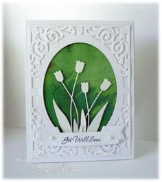 Silhouette Tulips by frenziedstamper - Cards and Paper Crafts at Splitcoaststampers