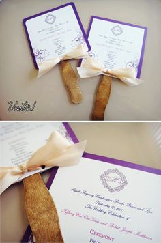 DIY Wedding Program Fans - perfect for a hot August day! summer wedding trend - Home Decorations Ideas Diy Wedding Program Fans, Wedding Fans, Wedding Trends, Our Wedding, Dream Wedding, Wedding Ideas, Wedding Ceremony, Wedding Stuff, Summer Wedding Attire
