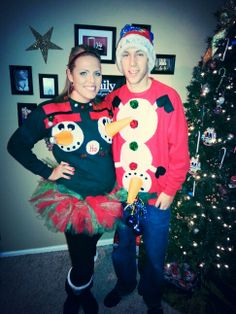 DIY Naughty Snowman Funny Christmas sweaters!!!