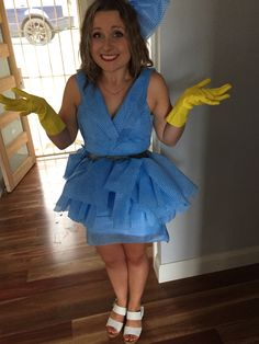Chux cloth dress - anything but clothes theme!