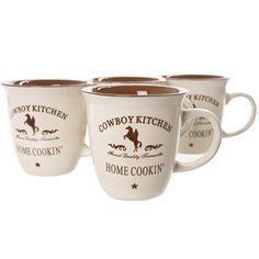 Cowboy Kitchen Mugs
