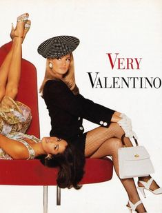 "the-original-supermodels: ""Valentino Yasmeen Ghauri & Karen Mulder by Steven Meisel "" 80s And 90s Fashion, Runway Fashion, Fashion Models, High Fashion, Fashion Outfits, Stylish Outfits, Timeless Fashion, Couture Fashion, Fashion Trends"