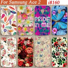 Fashion Cover Case Pattern Case For Smausng Galaxy Ace 2 i8160 8160 Diy Beautiful Flowers Hard Case