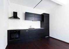 Virtuvės dizainas juoda – balta