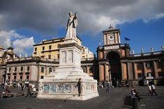Monument of Dante Alighieri in Piazza Dante Napoli.