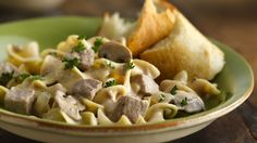 Slow cooker Beef Stroganoff - Simple yet savory stroganoff starts with two cans of creamy mushroom soup. What a wonderful way to welcome the family home for dinner! Best Slow Cooker, Crock Pot Slow Cooker, Crock Pot Cooking, Slow Cooker Recipes, Crockpot Recipes, Cooking Recipes, Chili Recipes, Soup Recipes, Slower Cooker
