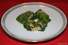 La ricetta di oggi e'...involtini di scarole, dei piccoli bocconcini ripieni di olive nere, capperi e fior di latte, un ripieno che ben si sposa con il