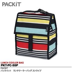 <BR>【PACKiT】<BR>ランチクーラーバッグ<BR>サイズ:H21cm×W12cm×D24.5cm<BR>重さ:595g<BR>カラー:ストライプ<BR>PKT-PC-SSP:楽天