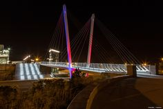 The impressive visual statement of the Markey Bridge - a cable stayed bridge for pedestrians - provides enhanced and open views of the Atlantic Ocean. Stainless Steel Cable Railing, Cable Stayed Bridge, Ma Usa, Architectural Engineering, Aesthetic Design, Pedestrian, Beautiful Architecture, Railings, Sustainable Design