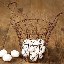 Old fashioned wire egg basket!