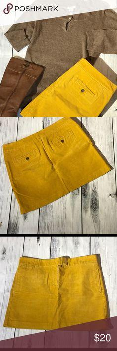 J Crew Mustard Corduroy Skirt Size 12 J Crew Mustard Corduroy Skirt  Size 12 J. Crew Skirts Mini