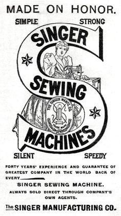 Singer sewing machines vintage logo                                                                                                                                                                                 More