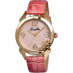 Bertha Watches Daisy Watch Women's (140 AUD) ❤ liked on Polyvore featuring jewelry, watches, fashion accessories, pink, crown jewelry, daisy crown, pink jewelry, daisy jewelry and pink watches