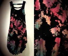 Tie Dye Dress Boho Punk FOREVER by MoneyCanBuyHappiness on Etsy, $79.00