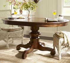 Another dining table option. This is the Tivoli table in Tuscan chestnut stain by pottery barn. Wondering if anyone has this and has a review to share?