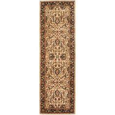 "Safavieh Persian Legend Black/Ivory Area Rug Rug Size: Runner 2'6"" x 8'"