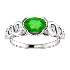 10kt White Gold 7x5mm Center Oval Garnet and 6 Side Diamonds Engagement Ring...(ST121996:584:P).! Price: $1049.99 #diamonds #ring #gold #garnetring #fashionring #jewelry