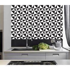 Resultado de imagem para cozinha adesivo azulejo e piso preto