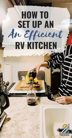 What RV kitchen accessories do you need to set up an efficient kitchen on the road? A lot of it depends on you and your cooking style, but here is everything I have in my RV to whip up meals while traveling.