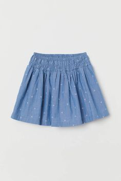 bbe930d940 H M Cotton Skirt with Smocking - Blue. Baby Girl DressesLittle ...