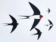 Little Bird Silhouette Simple Super Ideas Bird Quilt, Bird Silhouette, Bird Illustration, Bird Drawings, Bird Design, Bird Art, Pet Birds, Screen Printing, Art Paintings
