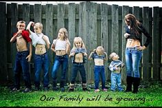 Great way to announce another child on the way for a large family!!